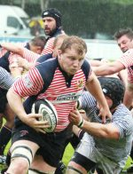 Lancashire V Cheshire RUFC at Sedgley Park, Whitefield. Pictured is Matt Lamprey in action for Lancashire. 24th May 2014